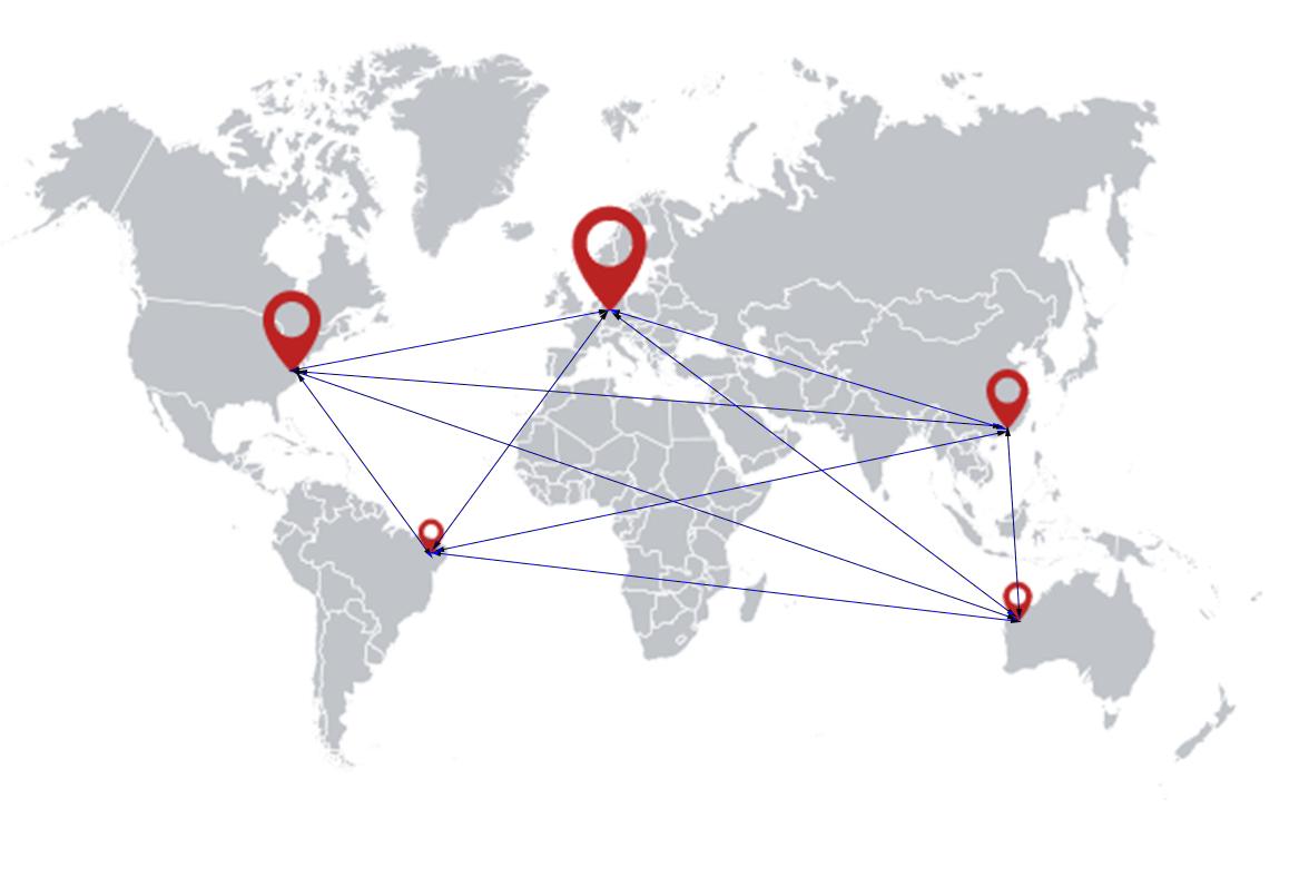 iberosime flight services maps worldwide