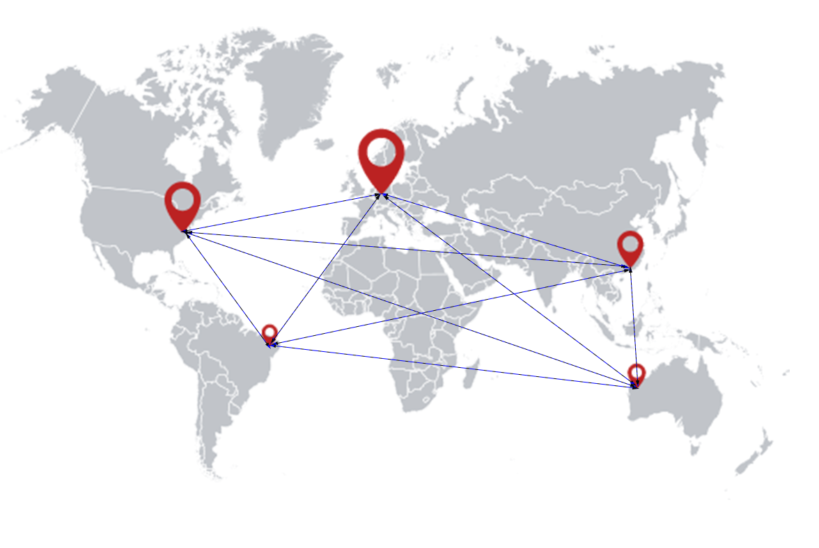 iberosime flight services maps worldwide
